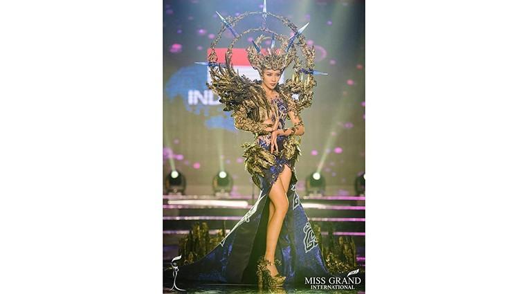 Kostum Megah Perwakilan Indonesia di Miss Grand International 2017